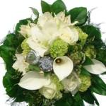 Bouquet Rond Blanc Type Boules De Neige De Roses