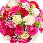 Bouquet De Fleurs Composé : Rose, Rouge, Blanc